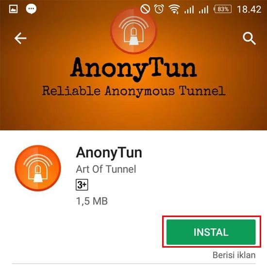 Install Aplikasi AnonyTun