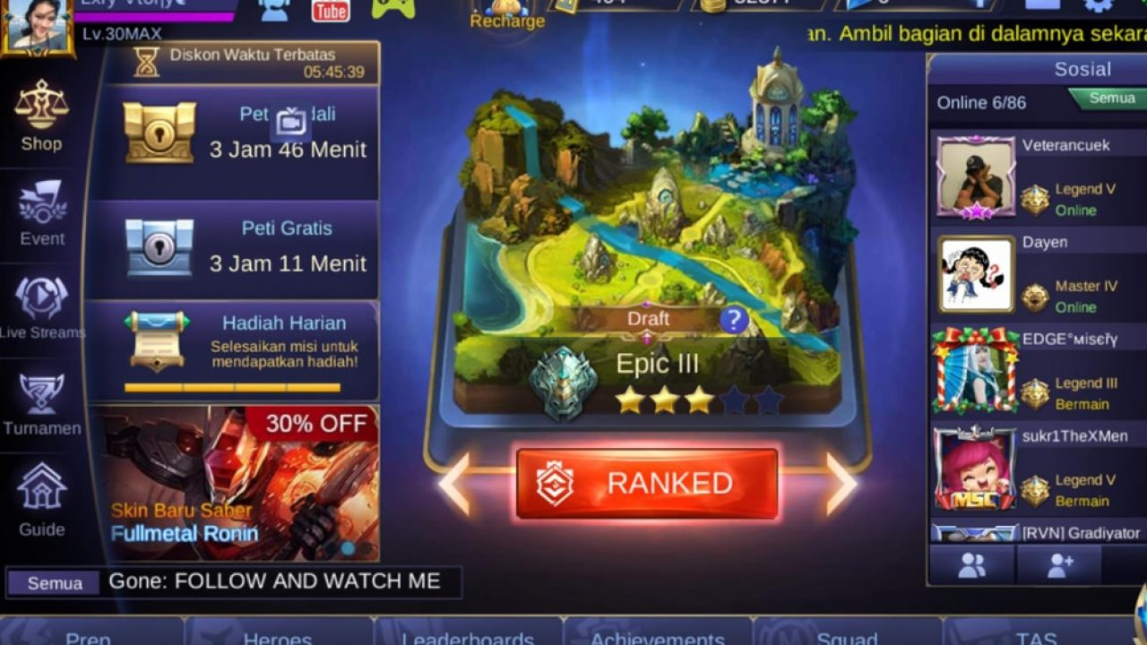 7 Kesalahan Fatal Saat Main Ranked Di Mobile Legends