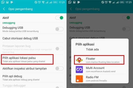 Pilih Aplikasi Floater