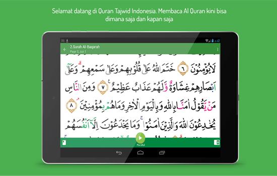 Aplikasi Quran Tajwid Indonesia