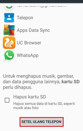 Setel Ulang Smartphone