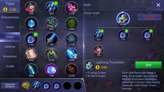 Lightning Truncheon - Item Mobile Legends