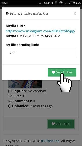 Send Likes