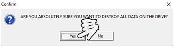 Klik Yes untuk Mulai Memformat