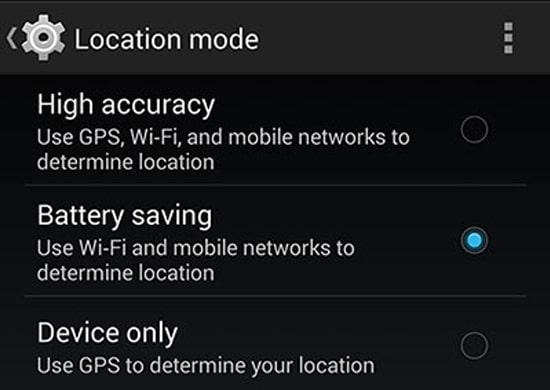 Mode Akurasi GPS