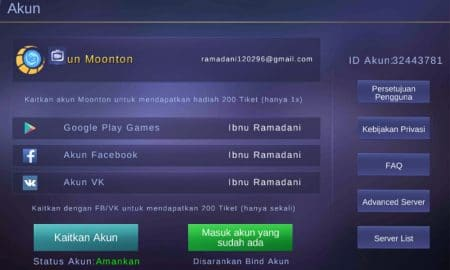 Cara Ganti Akun Mobile Legends di Android (100% Aman) 33