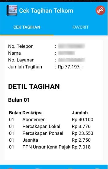 Infomasi Tagihan Telkom