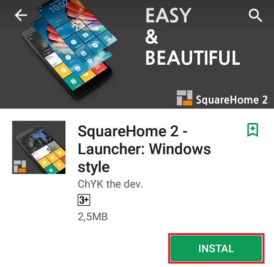 Install Aplikasi SquareHome 2