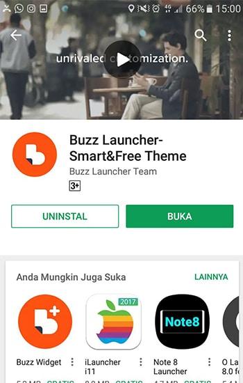 Install Aplikasi Buzz Launcher