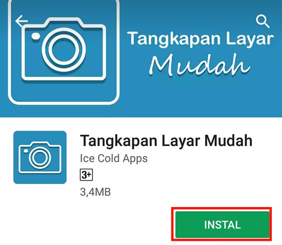 Install Aplikasi Screenshot Easy