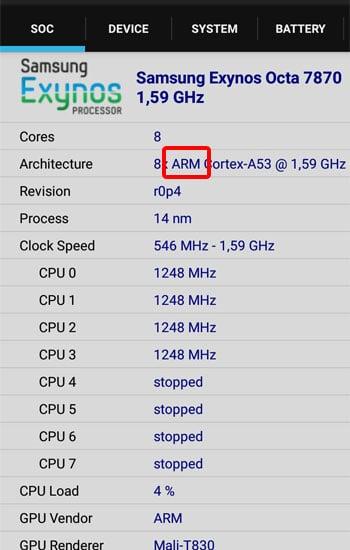 Lihat Jenis CPU