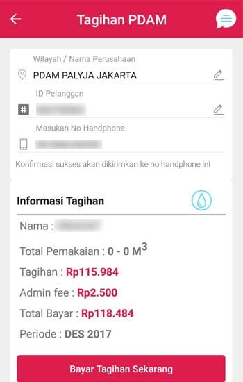 Masukan ID Pelanggan dan Muncul Informasi