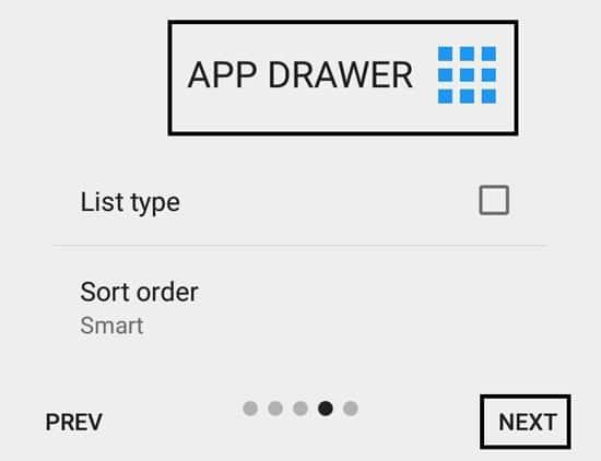 Pilih App Drawer