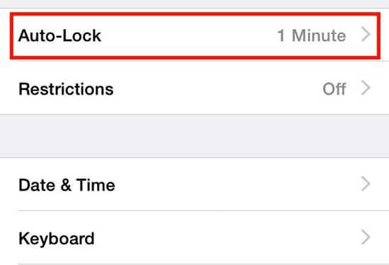 Pilih Auto-Lock