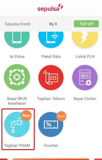 Pilih Menu Tagihan PDAM