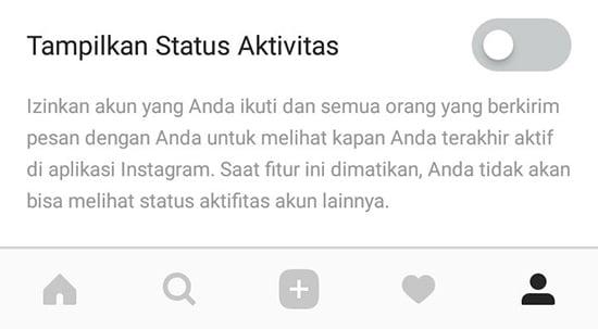 Pilih Status Aktivitas