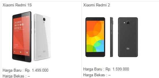 Harga Xiaomi