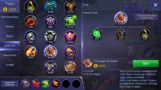 Courage Bulwark - Item Mobile Legends