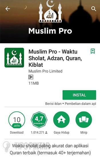 Install Muslim Pro