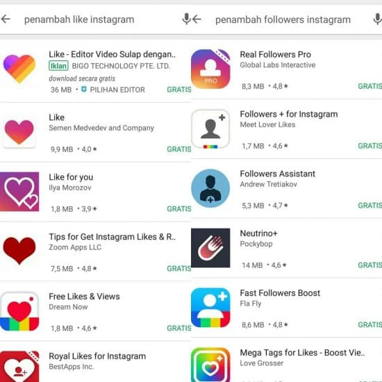 Jangan Download Aplikasi Penambah Like