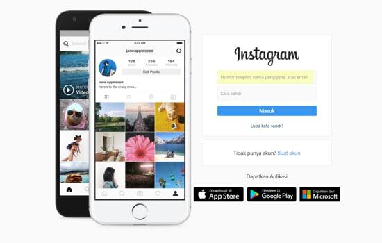 Login Instagram Melalui Browser