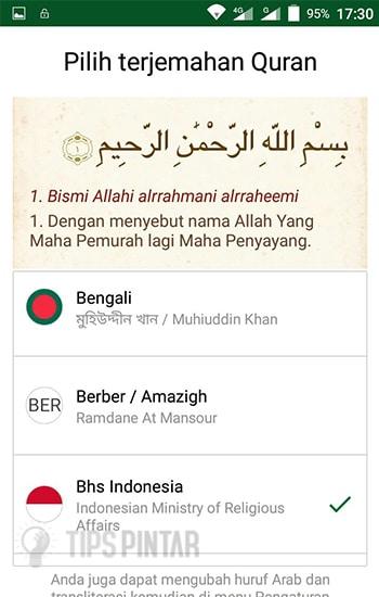 Pilih Bahasa Terjemahan Al-Quran