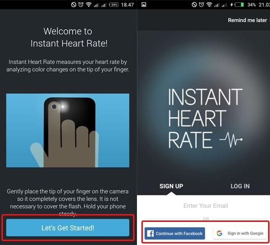 Sign Up Menggunakan Akun Facebook atau Google