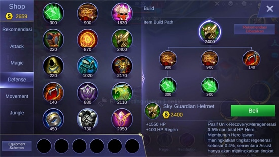 Sky Guardian Helmet - Item Mobile Legends