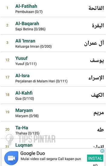 Surat Al-Quran yang Populer