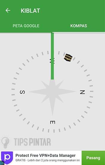 Tampilan Kompas