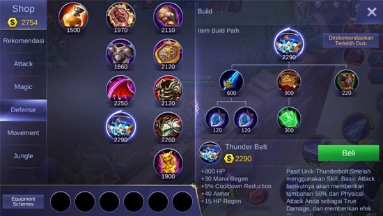 Thunder Belt - Item Mobile Legends