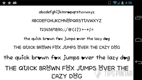 Font for FlipFont 50 Written