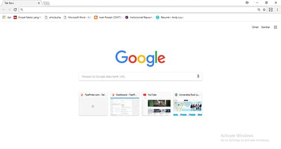 Buka Google Chrome