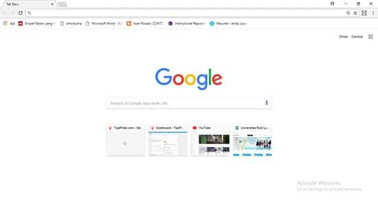 Buka Google Chrome