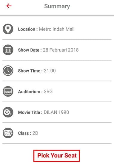 Konfirmasi Pembelian Tiket Bioskop