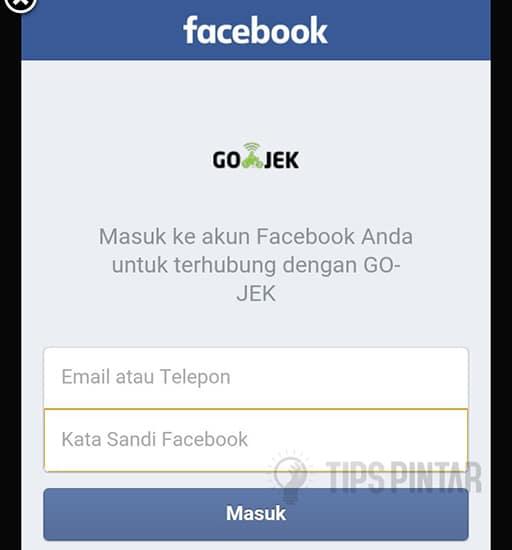 Masukan Akun Facebook