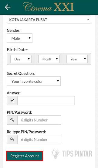 Masukan Data lalu Registrasi