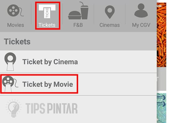 Pilih Tickets by Movie