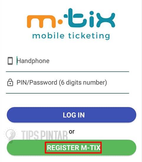 Pilih Registrasi M-Trix
