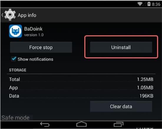 Uninstall Aplikasi Mencurigakan