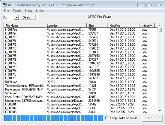 ADRC Data Recovery