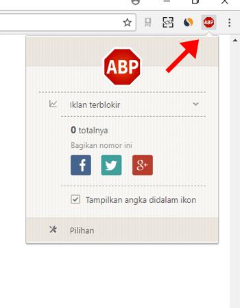 Adblock Sudah Terinstall