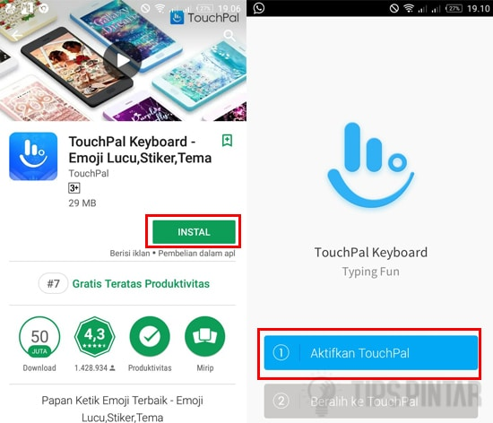 Install TouchPal