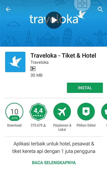 Install Traveloka