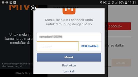 Login Akun Facebook