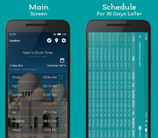Prayer Times, Athan and Qibla