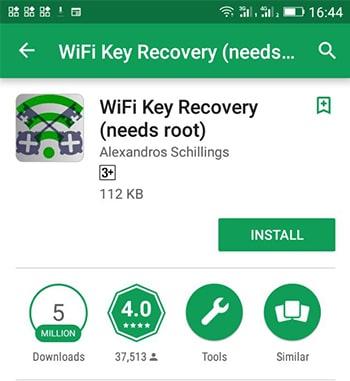 WiFi Key Recovery (Needs Root)