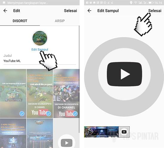Edit Sampul Highlights Instagram Stories