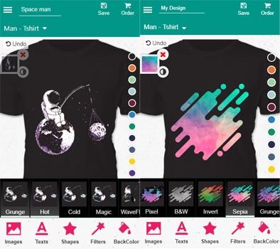 Aplikasi T-shirt design