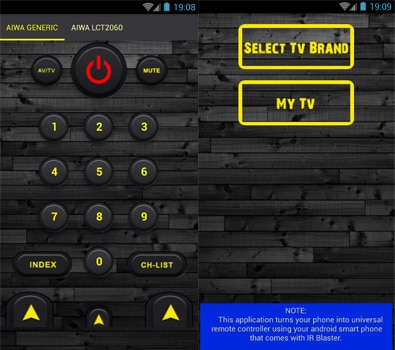 Aplikasi Remote Control All TV